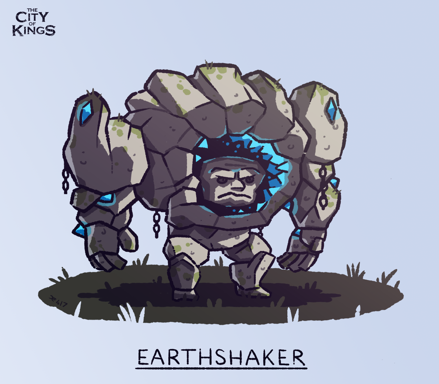 """Earthshaker"" from the board game The City Of Kings"
