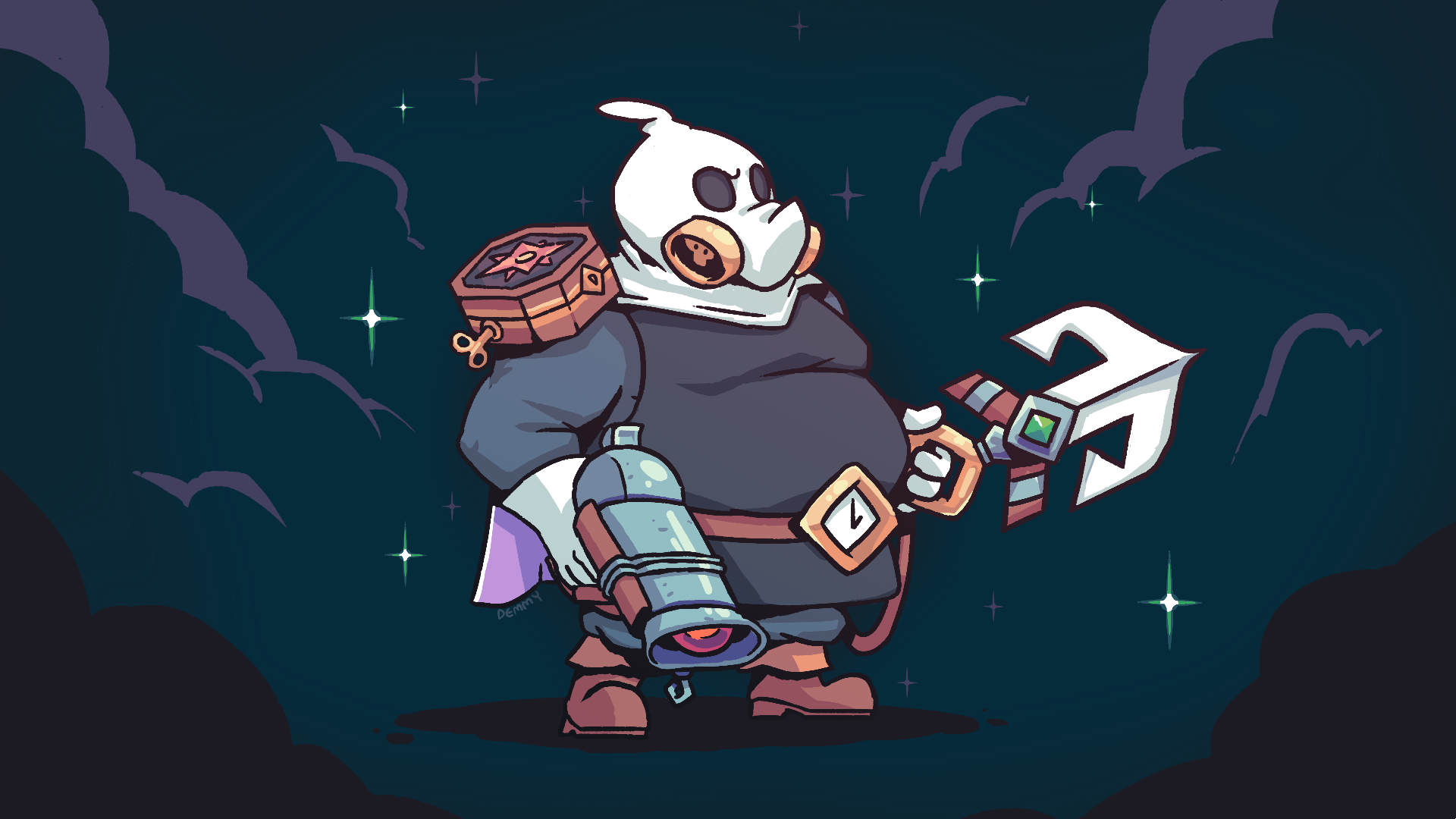 Roadhog cosplaying as Captain Flinthook